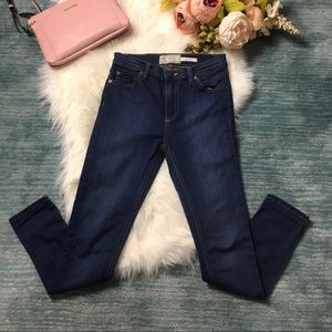 Free People High Rise Blue Skinny Jeans Size 25